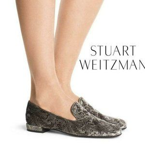 Stuart Weitzman Flat Royal Floral Embossed Loafer